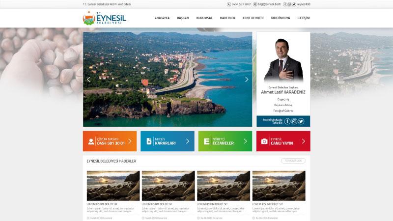 eynesil belediyesi web sitesi yayinda