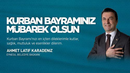 Ahmet Latif Karadeniz Kurban Bayramı Mesajı